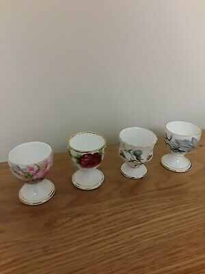 Royal Albert Brigadoon, Old Country Rose, Silver Maple, Blossom Time 4 Egg Cups