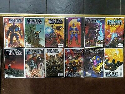 Thanos 1-12 lot 4, 5, 11 venomized Variants VF-NM 1st prints bagged & boarded
