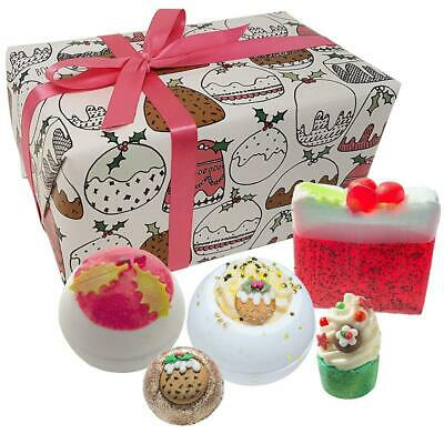 Bomb Cosmetics Figgy Pudding Handmade Wrapped Gift Pack [Contains 5-Pieces],...