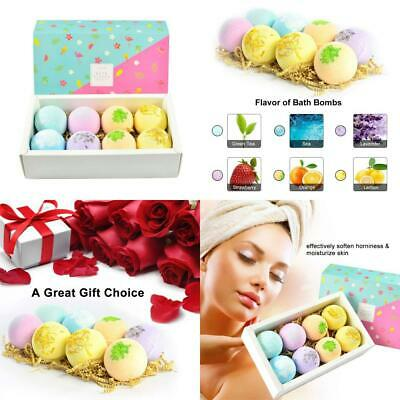Anself 8pcs Bath Bombs,Multi-color Spa Essential Oils and Dry Flowers,...