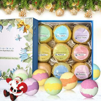 Janolia Bath Bombs, 9 Pcs Natural Spa Kit for Skin Care and Relaxation,Ideal...
