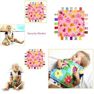 INCHANT Soft Taggy Blanket - Pink with Flower, - Plain Pink...