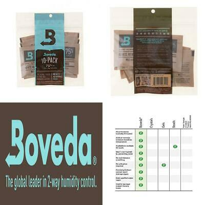 Boveda Humidipak 8 Gram (Medium) 10 Pack 2-way Humidity Control 75% RH
