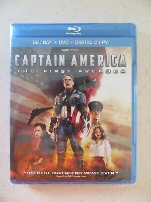 Captain America: The First Avenger (Blu-ray + DVD, 2017, Includes Digital Copy)