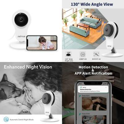 NETVUE 1080P WIFI Camera, Compatible with Alexa Echo Show, 360