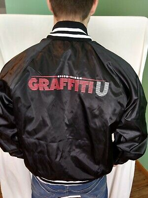 KEITH URBAN Graffiti U VIP Concert Tour Jacket Black Baseball Satin Size M