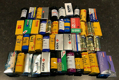 LOMOGRAPHY EXPIRED 120 FILM COLLECTION Kodak Ektachrome Fujichrome HIE - 46 pcs