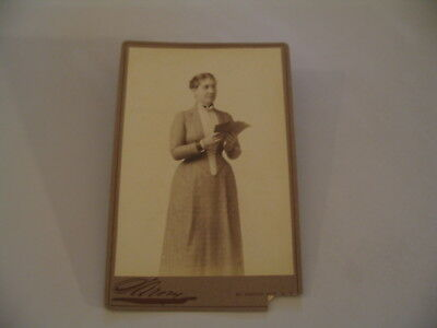 Sarony Cabinet Card Photo cdii Theater Theatre Mrs Kendall AS-IS