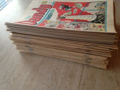 DANDY COMIC BUNDLE JOB LOT. 80 Comics. 1970's to 2000's. FREE UK POSTAGE.