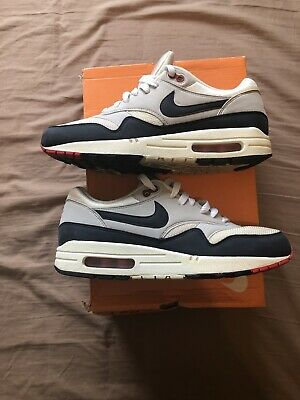 info for 42b71 4739c Rare 2013 Vintage Nike Air Max 1 One OG Sail University Obsidian Anniversary