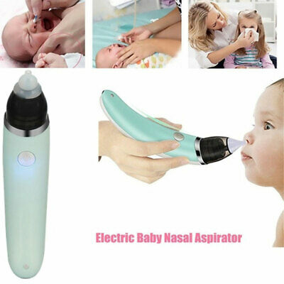 Newborn Baby Nasal Aspirator Electric Nose Cleaner Safe Hygienic Snot Sucker UK