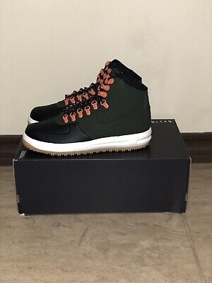 2ba387dbdb0476 Nike Lunar Force 1 Duckboot  18 Black Sequoia Sail (BQ7930 004) Men s Size