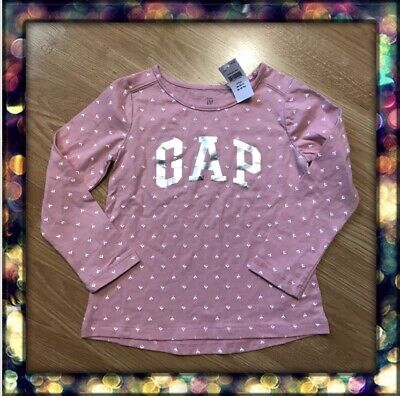 NWT BABY GAP Pink With Silver Letters GRAPHIC T-SHIRT 4 YEARS GIRLS