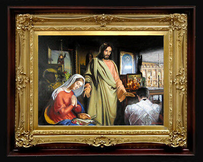 "Oil Painting PRINTED on Canvas Arseni ~ CHRIST 11,1"" X 8"" Impressionism Artist"