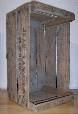 Vintage Wooden Crate Mid-century manufacturing french