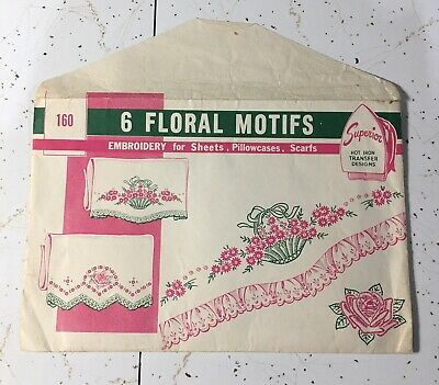 Vtg Hot Iron Transfer Embroidery Pattern #160 Used