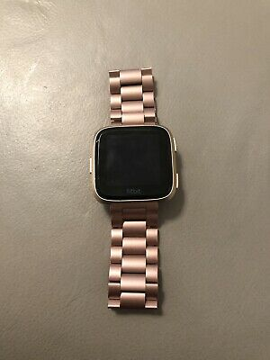 FITBIT VERSA SPECIAL Edition Lavender Rose Gold S & L Bands *Brand