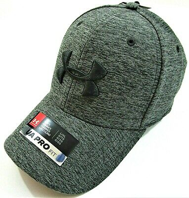 a01c039342b UNDER ARMOUR PRO Fit Gray   Black Trucker Men s Cap Hat SnapBack One ...