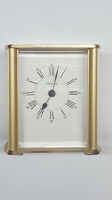 Tiffany & Co Brass / Gold Portfolio Desk Quartz Clock Vintage - Made in Germany