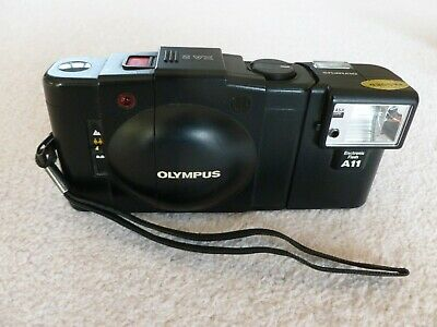 Olympus XA 2 35mm Film Camera with Zuiko 35mm F/3.5 Lens + A11 Flash, with box