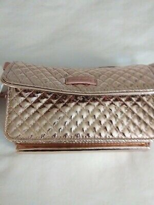 NWT Vera Bradley Iconic RFID All-in-One Crossbody Rose Gold Shimmer Color  965a3a8210