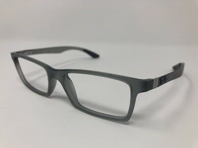 9a16af4196 Ray Ban RB 8901 5244 Grey Transparent Carbon Fiber 53 17 145 Eyeglasses Rx