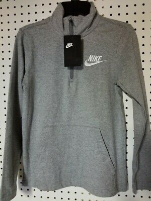 Boys Kids Youth NIKE Grey NEW Pullover hoodie Size Medium