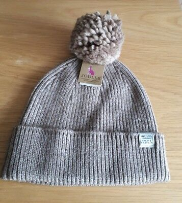 Joules Bnwt Ladies Oatmeal Colour Hat OS