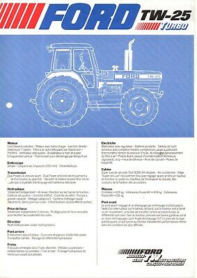 F-Prospectus Tracteur New Holland Ford Tw25