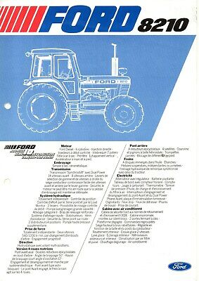 F-Prospectus Tracteur New Holland Ford 8210