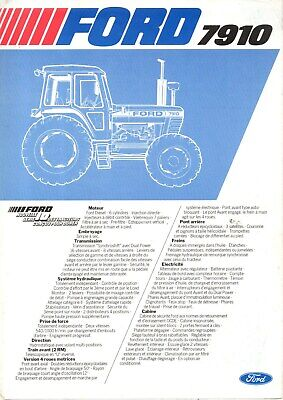F-Prospectus Tracteur New Holland Ford 7910