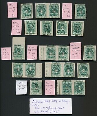 Austria Italy Stamps Wwi Field Post Udine X20 Maniago, Langarone, Vf, Mainly Mnh