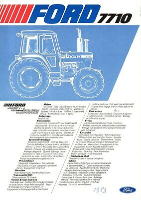 F-Prospectus Tracteur New Holland Ford 7710