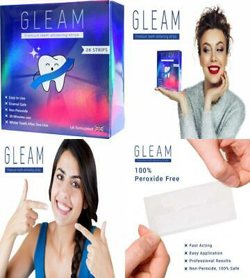 Gleam Teeth Whitening Strips, Peroxide-Free Luxe 3D Tooth Whitener Kit, Kit...