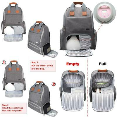 Luxja Breast Pump Bag, Backpack with Pockets for Laptop and Cooler Bag...