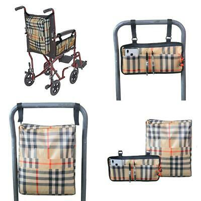 Universal Two Bags Wheelchair Accessories, Backpack Storage and Armrest Side...