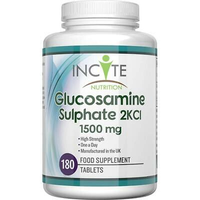 Glucosamine Sulphate 2KCl 1500 mg 180 Tablets Manufactured in The UK (6...