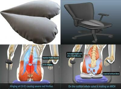 Happy Psoas Orthopaedic Interactive Seat Cushion - Innovative patent...