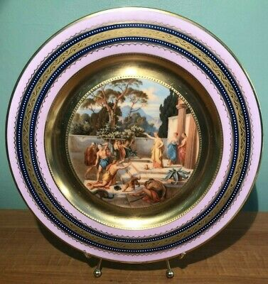 Ackerman & Fritze Royal Vienna Plate Odysseus And Kirke C. Herr- Beehive Mark ^