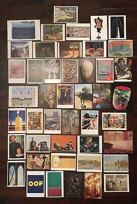 lot of 50+ Art Postcards Greeting Cards from Galleries around the world VINTAGE
