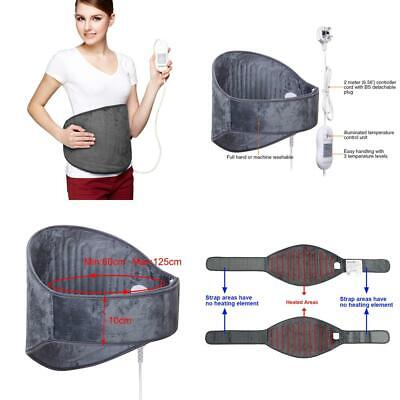 iGuerburn Waist Belt Electric Heating Pad - 100W - Grey-Machine Washable By Hand