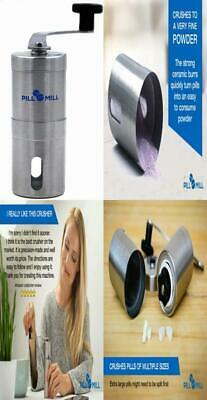 Pill Mill Crusher - Crushes Multiple Tablets To a Fine Powder - Metal Grinder