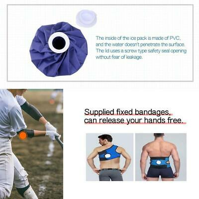 Ice Bag, 3-Pack (6, 9,11 inch), Sports, Injury, Reduce Pain, Knee, Back,...