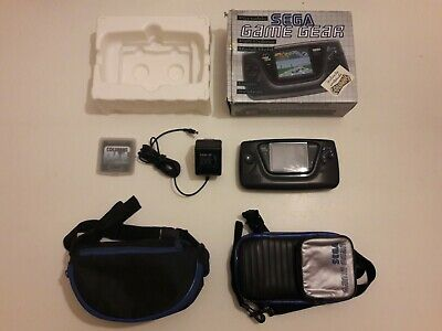 RARE! Pack complet Console SEGA GAME GEAR + BOITE + NOTICES + LOUPE + 2 SACOCHES