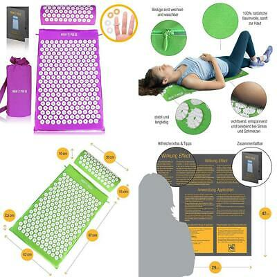 High Pulse acupressure set – mat and pillow for an effective simple...