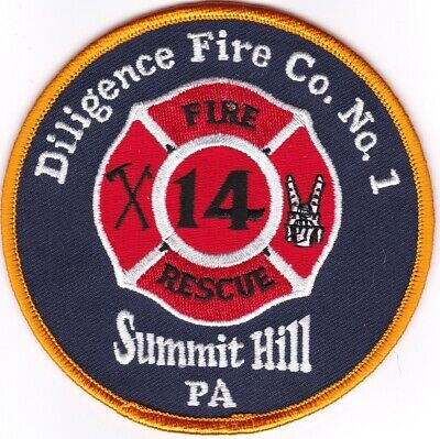 Summit Hill Diligence Fire Co. No. 1 Pennsylvania Firefighter Patch