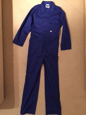 Blue Castle Tearaway Royal Blue kids junior coverall boiler-suit overall size 34