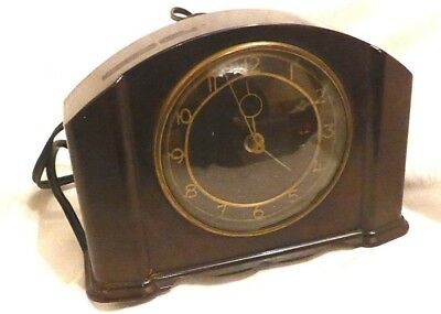 Art Deco Bakelite Smiths Sectric Electric Mantel Clock