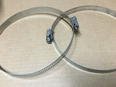 "Stainless hose clamp 4"" inch - 6"" inch  IDEAL Tridon 620-088 series NEW 2 pcs"