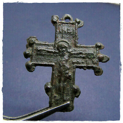**  CROSS ** ANCIENT I BYZANTINE BRONZE PENDANT!!!  2,97g